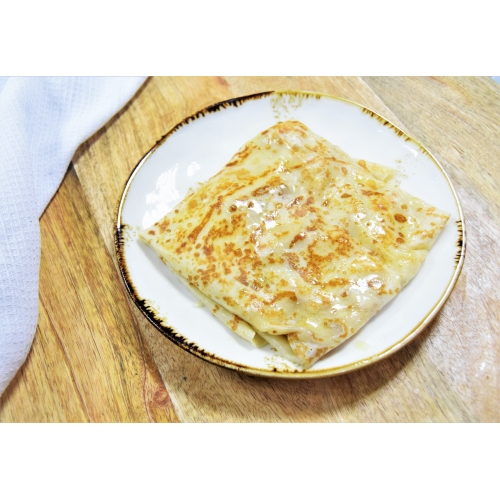 Блин со шпинатом и сыром моцарелла