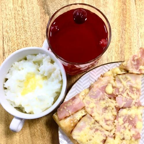 КОМБО завтрак (Каша, пицца, морс)